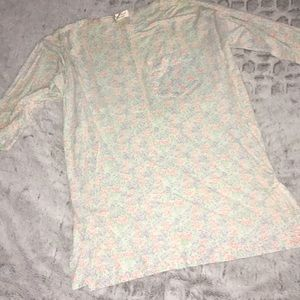 Vintage Victoria's Secret Flower Long Sleep Shirt